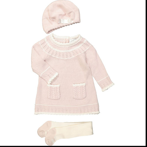 Heirlooms Pink Knitted Set Of Three
