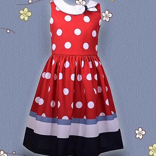 BONNIE JEAN Red & White Dress