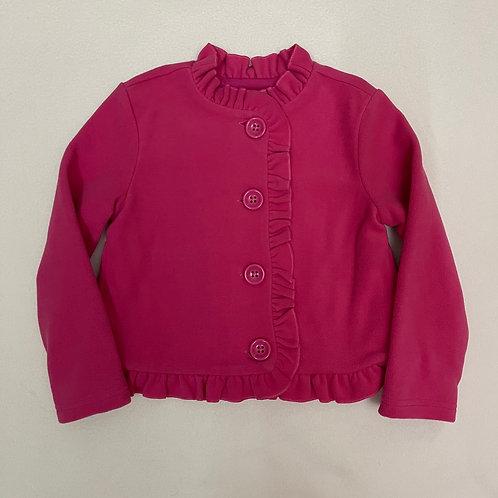 crazy 8 ruffle microfleece jacket pink