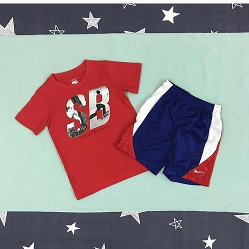 Nike red blue boys set