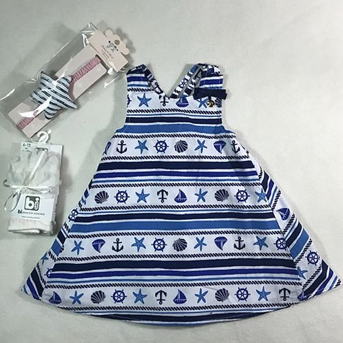 baby girl navy sea dress