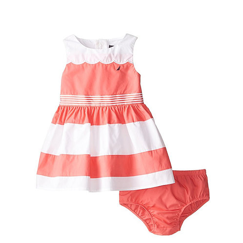 NAUTICA baby girl melon dress