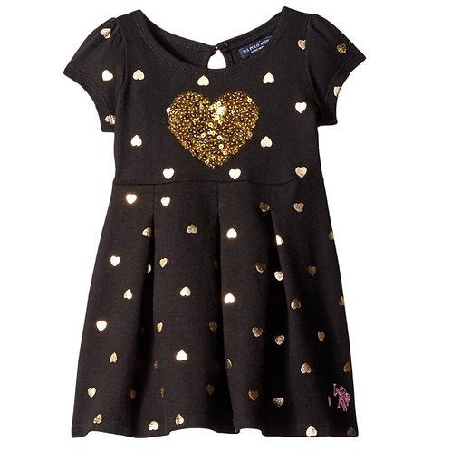 U.S.POLOASSN.LittleGirls black dress