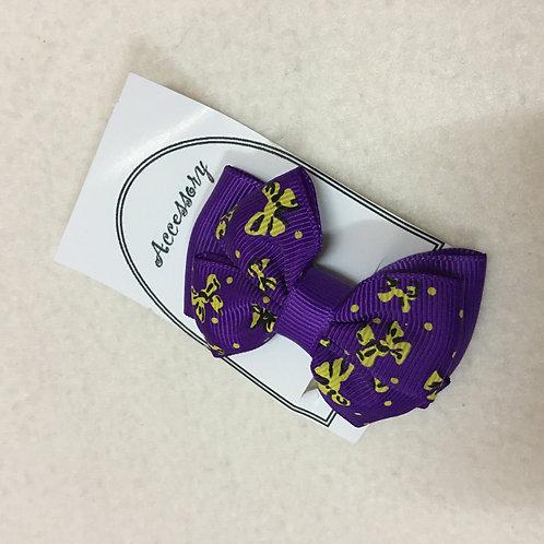 Girls dark purple clips
