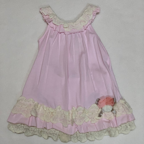 pink ivory baby girl dress