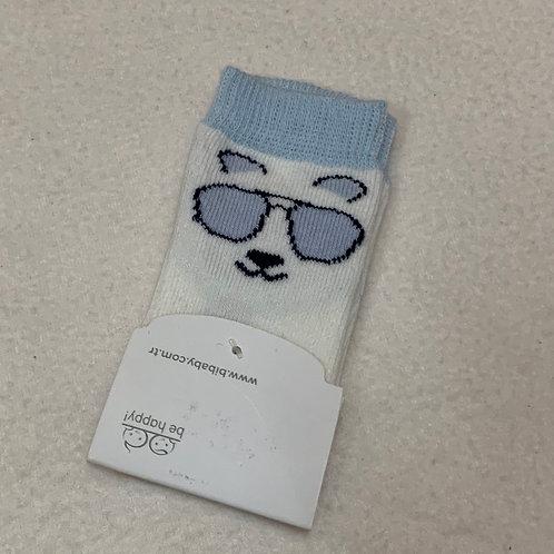 Baby socks Polar Bear with glasses