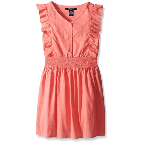 Nautica girl dress soft coral