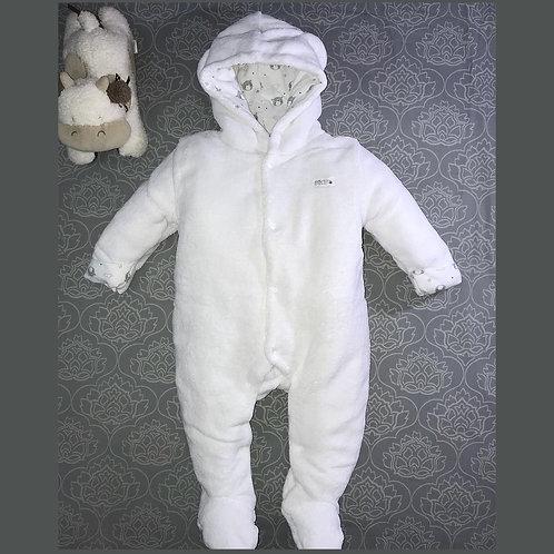 ZIP ZAP White fleecy suit