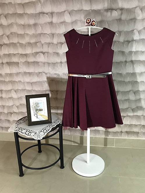 Malildas wardrobe girl dress maroon