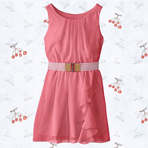 Amy Byer coral girl dress