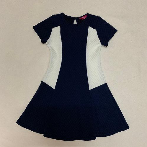 Navy & ivory girl dress