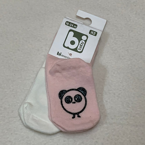 Baby Socks Light Pink & Ivory
