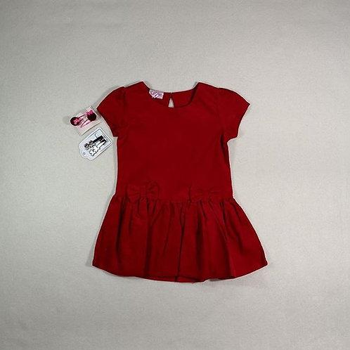red corduroy baby girl dress