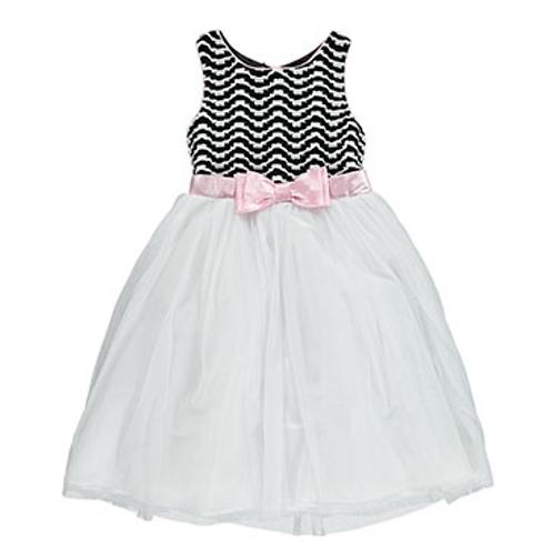 Sweet Heart Rose pink & white dress