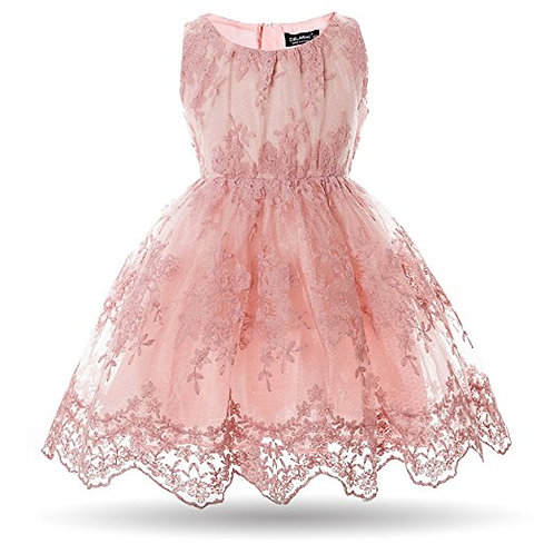 Girls Flower Lace Dress (4 Years)