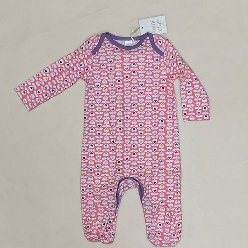 Baby girl hearts pink bodysuit
