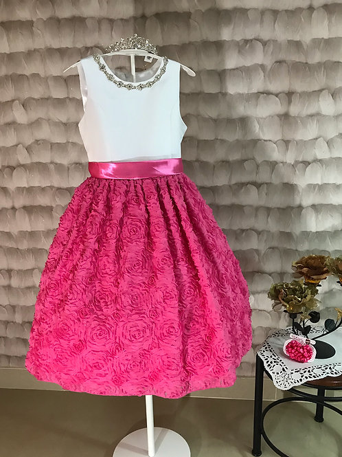 Couture Princess white & pink girl dress