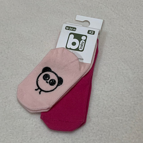 Baby Socks Dark Pink & Light pink