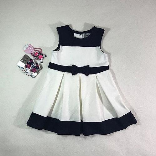 ivory navy girl dress