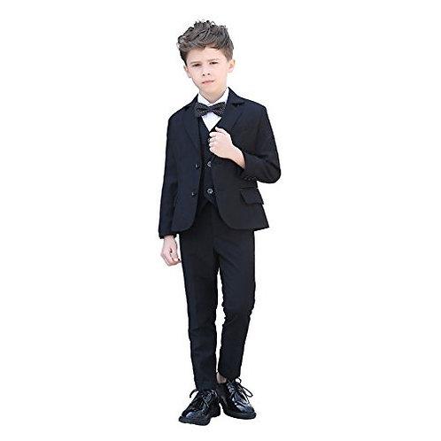 Yanlu Formal Boys Suits 5 piece Set Black