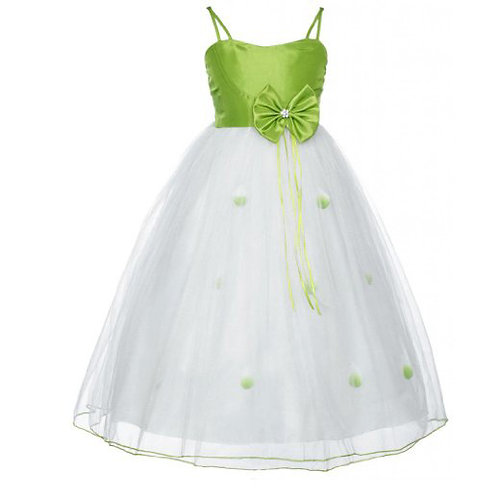 wonder girl dress green & white
