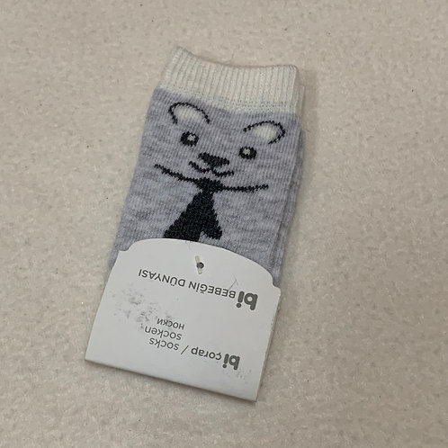 Baby socks Polar Bear with Tie