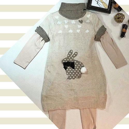 light brown knitted dress