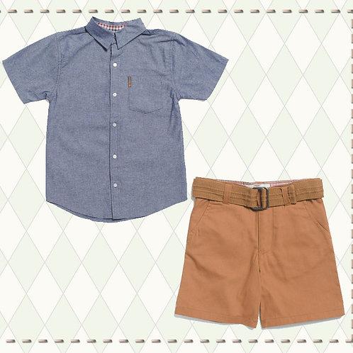 BEN SHERMAN blue Shirt boys set