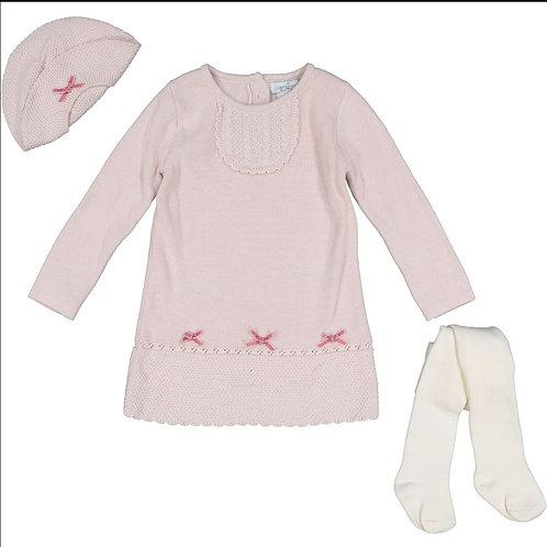 Jillian's Closet Pink & Cream Knitted Dress Set Size 24 MTHS