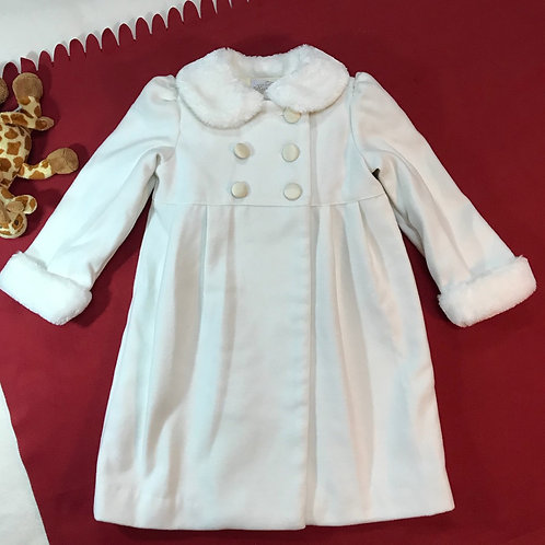 White & Cream Winter Coat