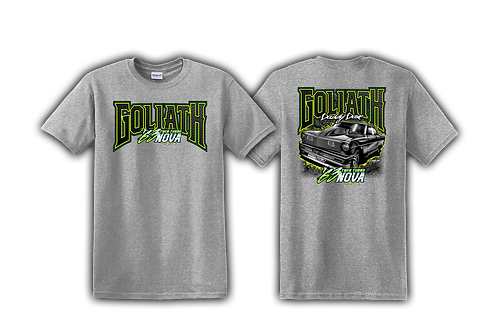 Goliath Twin Turbo Shirt-Gray LIMITED INVENTORY