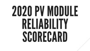 Comentários sobre o  2020 PV Module Reliability Scorecard