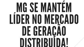 MG se mantém líder na Geração Distribuída. Rio de Janeiro lidera entre as cidades.