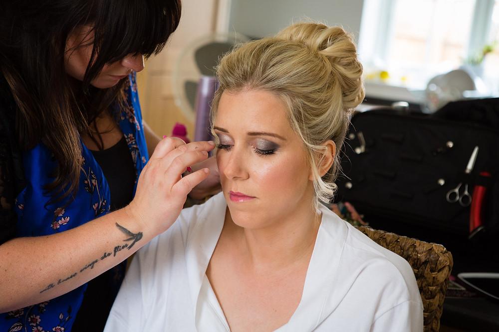 Fellow wedding supplier, hairstylist Leonie on her big day