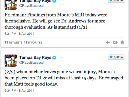 Matt Moore to see Dr. James Andrews
