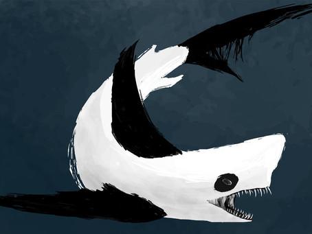 Pandas Land a Shark!