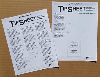 Tri-State Greyhound Tip Sheet