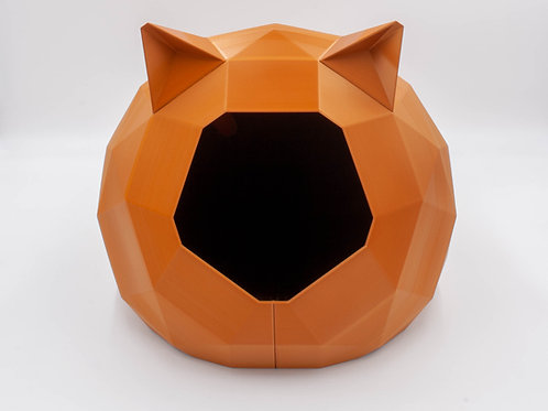 Copper Tao Cat house with ears