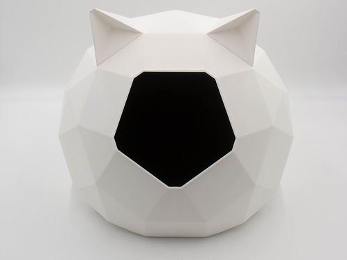 White Tao Cathouse with ears