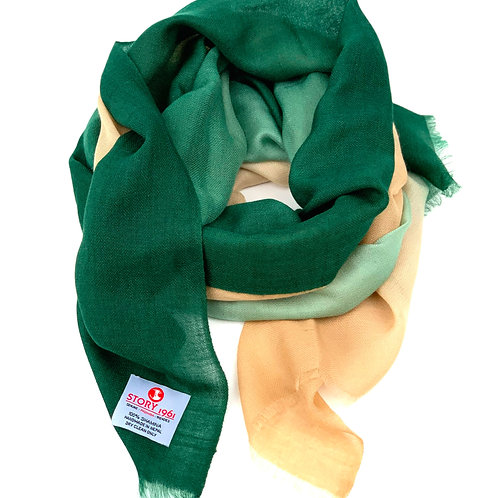 Shamina Scarf English Green meets Camel