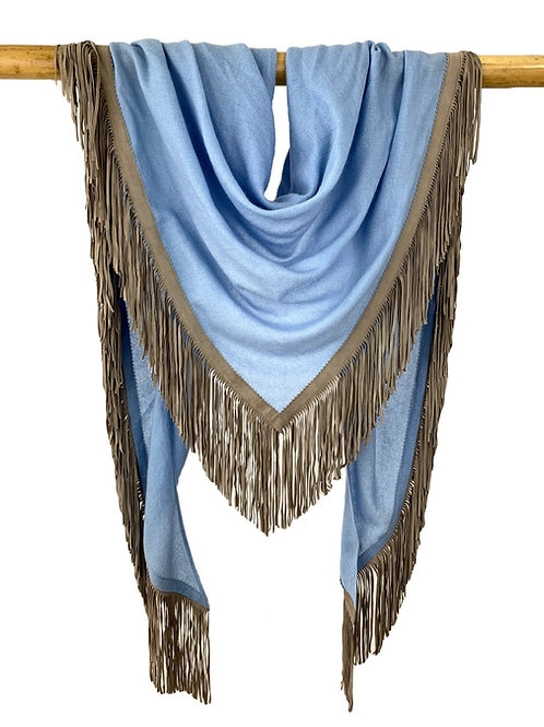 Open Poncho Baby Blue