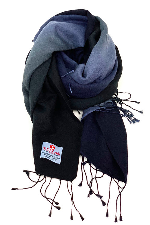 Genuine Scarf Navy Blue meets Black