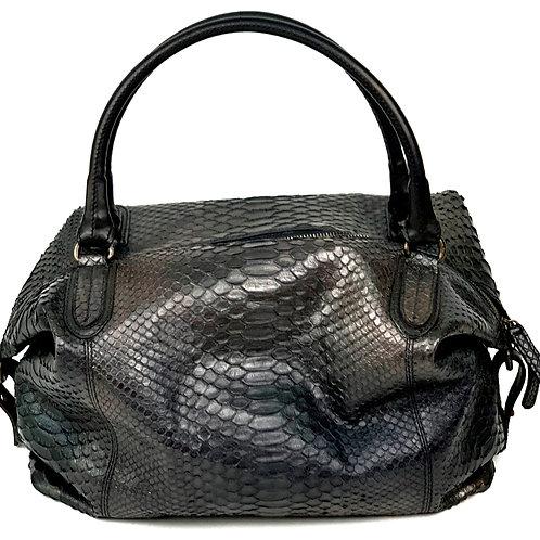 Reptile's House Handbag Phyton Metal Black