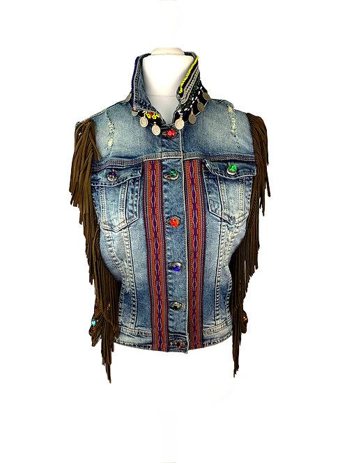 Dassios Jeans Vest Brown