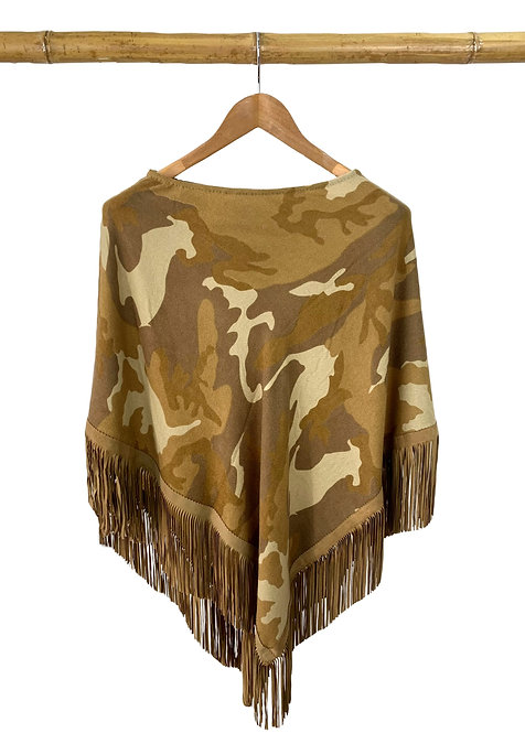 Classic Poncho Camouflage Camel Military