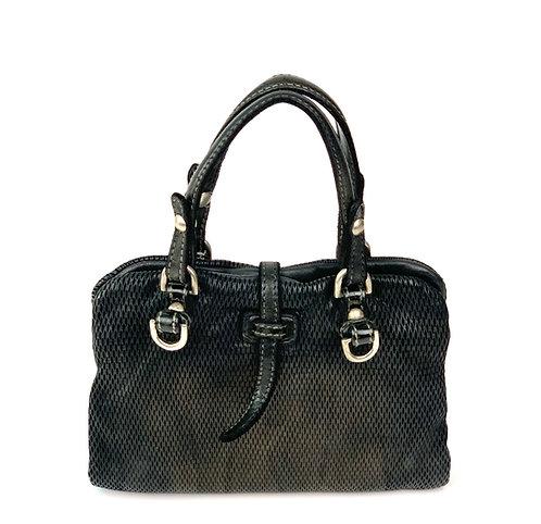 Reptile's House Handbag Leather Metal Black