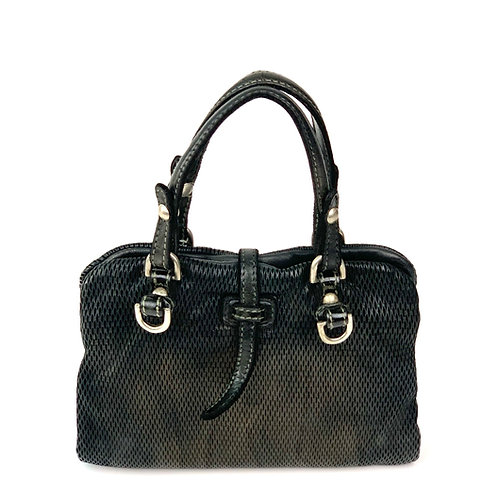 Reptile's House Handbag Leather Metal Black