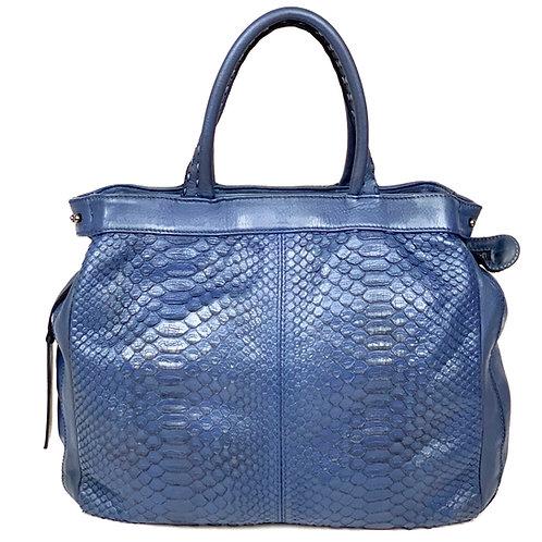 Reptile's House Handbag Phyton Corfu Blue