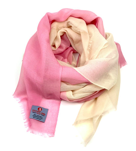 Shamina Scarf Baby Rose meets Cream