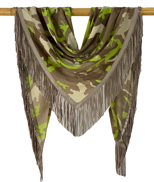 Open Poncho Camouflage Lime meets Taupe